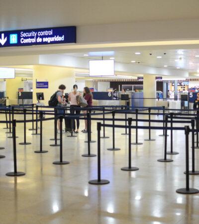 Cierran terminales en aeropuerto de Cancún