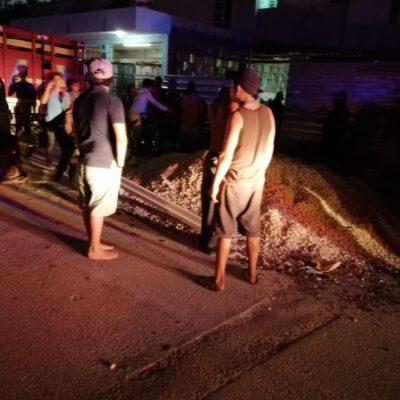 Disparan contra una vivienda en la colonia La Guadalupana de Playa del Carmen; una mujer herida, el saldo