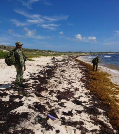 RECALA DROGA EN PLAYA DE COZUMEL: Asegura Sedena paquete con unos 20 kilos de presunta cocaína en la zona oriente de la isla