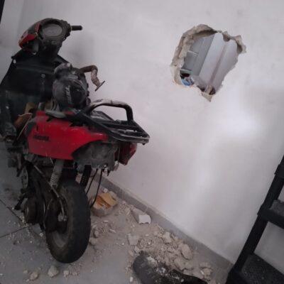 Abren un boquete para robar tienda Dunosusa en Cozumel