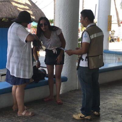 Realizan encuestas a turistas en terminales marítimas de QR para prevenir el Covid-19