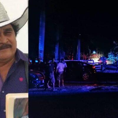 EJECUTAN A EX DIPUTADO DEL PRD: Matan a balazos en su rancho a Román Guzmán González, ex comisariado ejidal de Bacalar