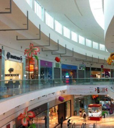 Plazas comerciales de Cancún empiezan a registrar caída de ventas por contingencia sanitaria