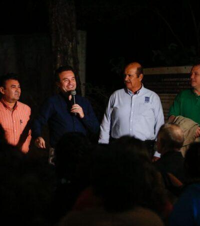 Con la construcción de guarniciones y banquetas de la Colonia Maravilla, atiende Pedro Joaquín añejo rezago en beneficio de los habitantes y estudiantes de la zona