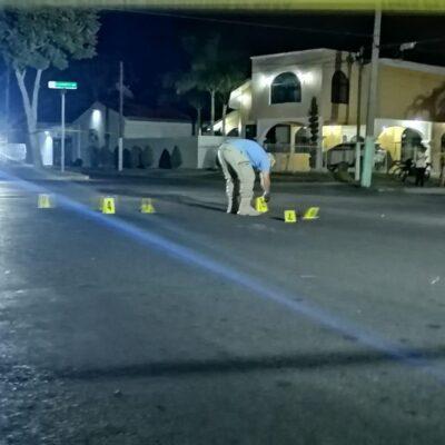 Sujetos a bordo de un taxi hacen disparos en colonia de Chetumal