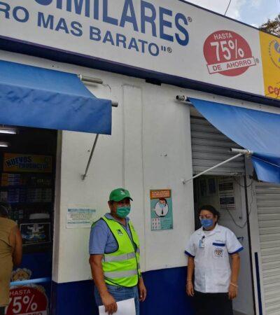 Negocios en Puerto Morelos acatan medidas sanitarias y restricciones  gubernamentales