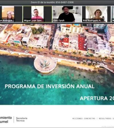 Aprueban Programa de Inversión Anual para el ejercicio fiscal 2020 en Cozumel
