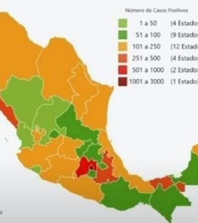 Ascienden a 7 mil 497 los casos positivos y a 650 las muertes por COVID-19 en México