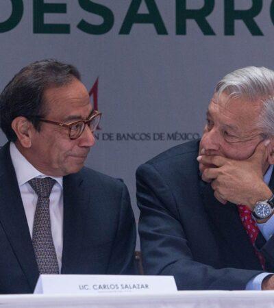 Filtran carta de Carlos Salazar a AMLO en la que rechaza 'cobrar impuestos'