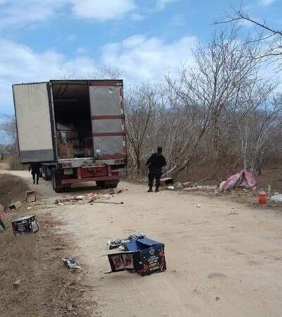 Denuncian saqueos al autotransporte de carga en carreteras del sureste
