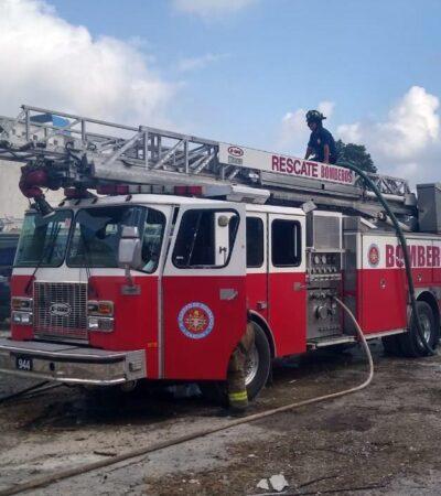 Disminuyen accidentes en el hogar, pero aumentan incendios urbanos, aseguran bomberos de Cancún