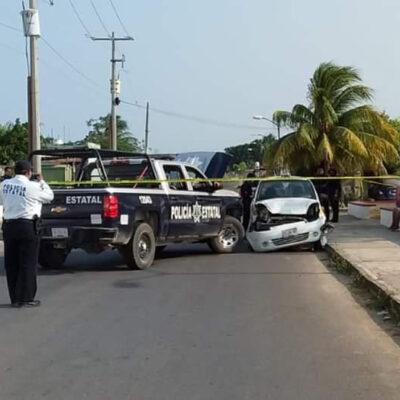 Movilización policiaca en Chetumal por robo de taxi