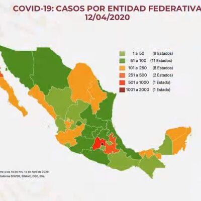 EL DOBLE DE MUERTOS EN CINCO DÍAS: Suman 296 fallecidos y 4,661 casos confirmados por COVID-19 en México