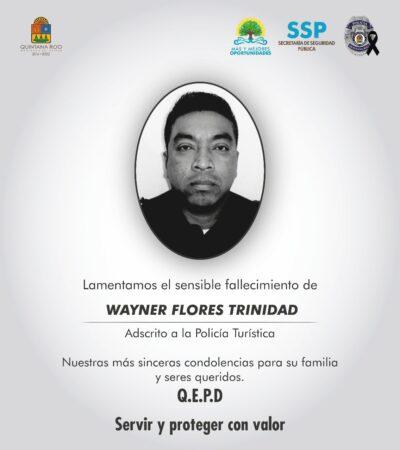 Muere agente de la Policía Turística de Cancún, investigan si fue por COVID-19