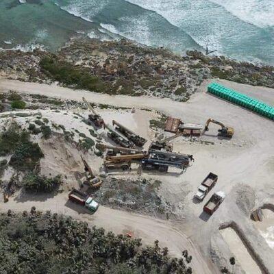 """""""NI CAPELLA LOS PARA"""": Denuncian ambientalistas que Grupo Posadas apresura ecocidio a un lado de Xcacel-Xcacelito, pese a restricción por contingencia sanitaria"""