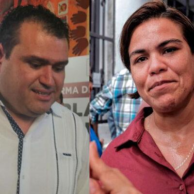 """PUGNA EN EL CONGRESO DE QR: """"Que gracioso que diputados que fueron invitados al partido Morena pidan mi expulsión"""", dice Reyna Durán; refuta Edgar Gasca suspensión de sesiones"""
