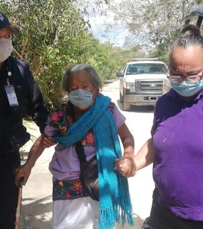 Ayudan a mujer perdida en Chetumal para regresar a su casa en Leona Vicario