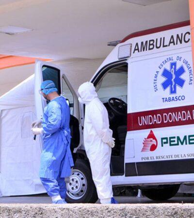 Reportan en Tabasco segunda defunción a causa del coronavirus