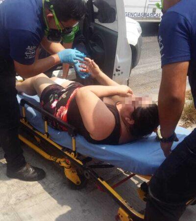 PRESUNTO ASALTO CON PISTOLA EN MANO: Hieren de bala a pareja en la Región 210 de Cancún