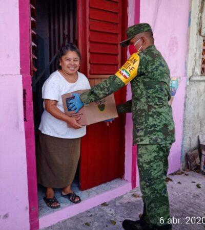 Activa Ejército Mexicano el Plan DN-III-E para distribuir más de 300 mil despensas en municipios de QR