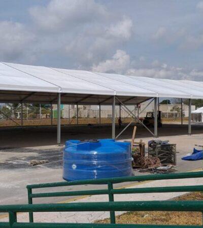 A marchas forzadas construyen espacios para atender a pacientes de COVID-19 en Cancún, Tulum y Chetumal