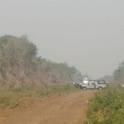 SEGUIMIENTO | SÍ HUBO DETENIDOS TRAS ATERRIZAJE DE NARCO AVIONETA: Confirman decomiso de aeronave y captura de 4 personas con arma larga en un ejido de Bacalar