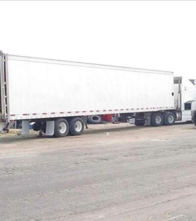 ATAJAN CARGAMENTO DE DROGA: Aseguran tráiler con más de 600 kilos de cocaína en la carretera Escárcega-Chetumal