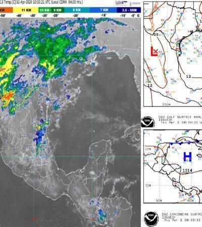 PRONÓSTICO DEL CLIMA: Se esperan lluvias ligeras en Quintana Roo