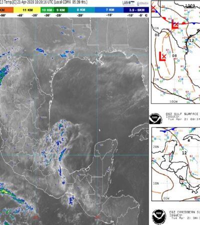 PRONÓSTICO DEL CLIMA: Frente frío 55 no afectará a Quintana Roo