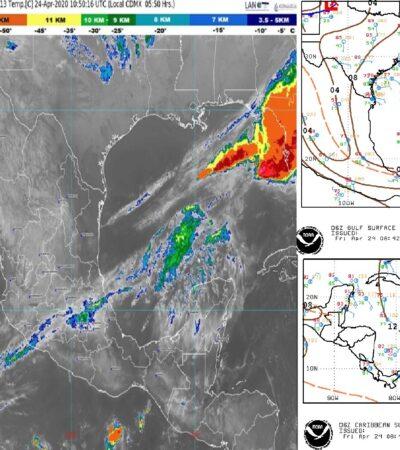 PRONÓSTICO DEL CLIMA: Se esperan ventiscas arriba de los 30 kilómetros por hora en Quintana Roo
