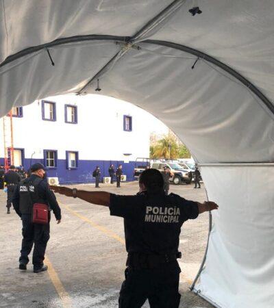 Refuerzan sanitización y vigilancia sanitaria en instalaciones policíacas de Cancún