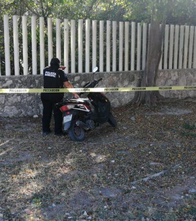 Disparan contra una casa y en huida abandonan motocicleta en Playa del Carmen