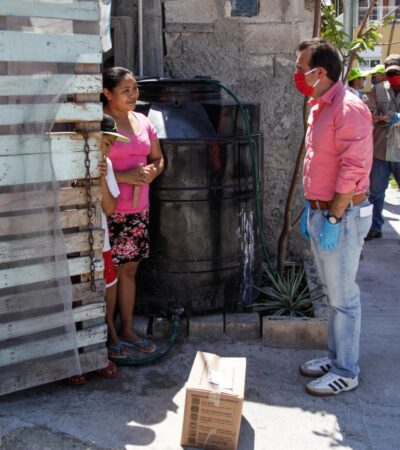 Continúa distribución de despensas en Cozumel con ayuda de 200 voluntarios y Fuerzas Armadas