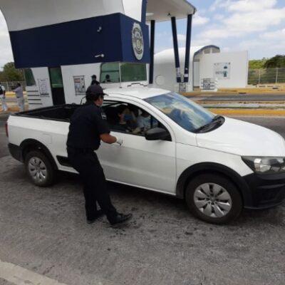 Continúa operando filtro sanitario en la entrada a Chetumal