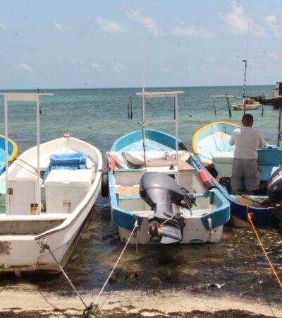 Pescadores de Cancún registran fuertes pérdidas económicas por cierre de puerto debido a la contingencia sanitaria