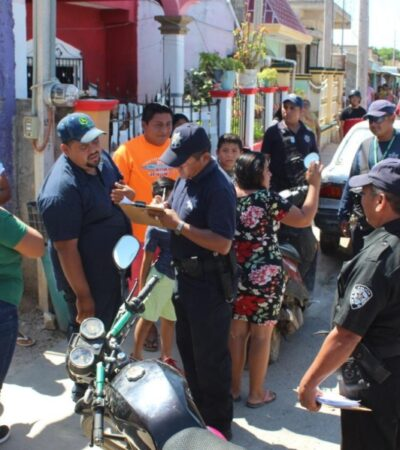 Autoridades sorprenden a policías municipales que organizaban peleas de gallos y venta ilegal de alcohol en José María Morelos