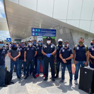 Regresan a casa, policías playenses varados en Perú