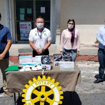Apoyan Rotarios de Cozumel a servicios de Salud con equipo médico