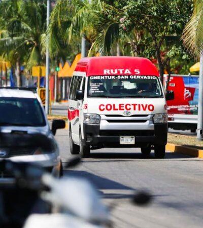 Ayuntamiento de Cozumel suspenderá transporte público desde este viernes