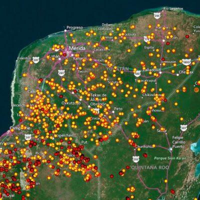 Monitorea NASA incendios de la Península de Yucatán; es temporada crítica