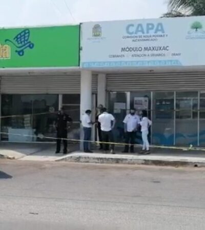 Sujetos armados asaltan la oficina recaudadora de CAPA en Chetumal; no hay detenidos
