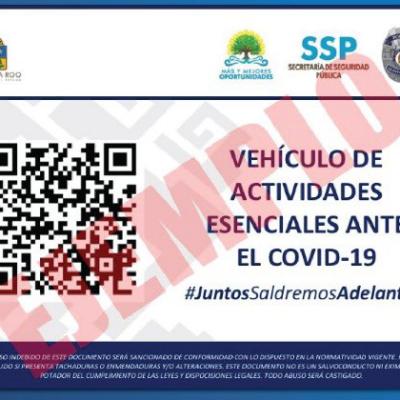Repartirá SSP tarjetones para que vehículos ligados a actividades esenciales puedan circular sin problemas