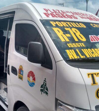 Trabajadores de hospitales no pagarán transporte público mientras dure la contingencia en Cancún