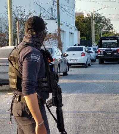ENFRENTAMIENTO EN CANCÚN: Saldo de dos personas detenidas y armas decomisadas en la zona del Polígono Sur