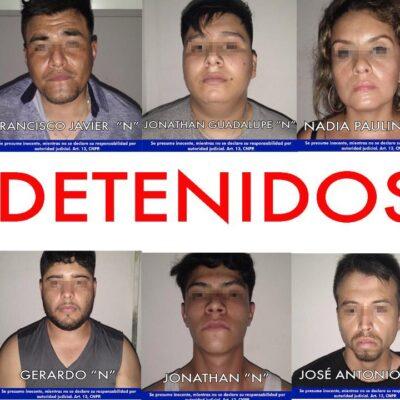 Difunden fotos de los 10 detenidos implicados en caso de secuestro en Cancún