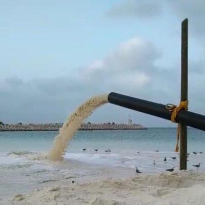 Por extracción de arena frente a Puerto Cancún, activistas alistan denuncia