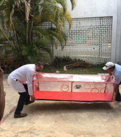 Recibe Hospital General de Carrillo Puerto tres cápsulas de aislamiento de pacientes