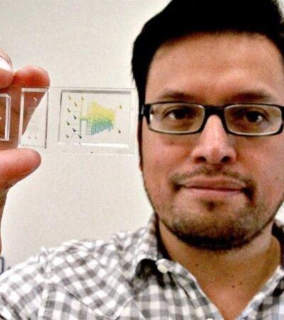 Cinvestav diseña microchip para dispositivo de prueba rápida de COVID-19