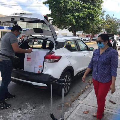 Entregan Coparmex y autoridades más de mil 600 despensas en Cozumel