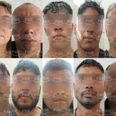 Vinculan a proceso a 10 personas detenidas en Cancún por delito de secuestro